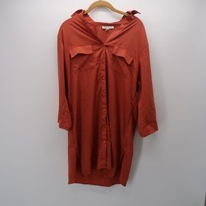 Speed Control Button Front Long Sleeve Shirt Large